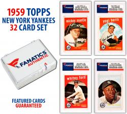New York Yankees Team Set 1959 Topps Featuring All 32 Cards