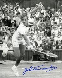 "John Newcombe Autographed 8"" x 10"" Lunging Photograph"