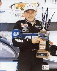 NEWMAN, RYAN AUTO (ALLTELL/HOLDING TROPHY) 8X10 PHOTO - Mounted Memories