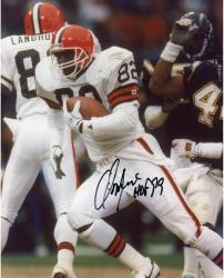 Ozzie Newsome Cleveland Browns Fanatics Authentic Autographed 8'' x 10'' vs. Running Ball Photograph