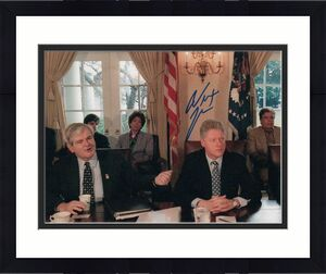 Newt Gingrich Signed Autograph 8x10 Photo - Speaker Of The House, Bill Clinton