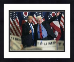 Newt Gingrich Signed Autograph 8x10 Photo - Speaker Of The House, Donald Trump