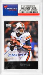 "NEWTON, CAM AUTO ""10 BCS CHAMP"" (2011 UPPER DECK # 95) CARD - Mounted Memories"