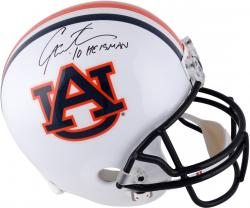 Cam Newton Auburn Tigers Autographed Riddell Replica Helmet with 10 Heisman Inscription - Mounted Memories