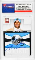 NEWTON, CAM AUTO (2011 PANINI ELITE RC # 30) CARD - Mounted Memories