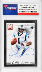 NEWTON, CAM AUTO (2012 PANINI ELITE # 19) CARD - Mounted Memories