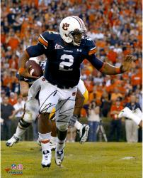 Cam Newton Auburn Tigers Autographed 16'' x 20'' Stiff Arm Photograph - Mounted Memories