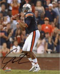 Cam Newton Auburn Tigers Autographed 8'' x 10'' Looking To Pass Photograph - Mounted Memories