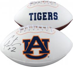 Cam Newton Auburn Tigers Autographed White Panel Football - Mounted Memories