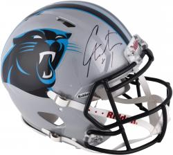 Cam Newton Carolina Panthers Autographed Riddell Pro-Line Authentic Speed Helmet - Mounted Memories