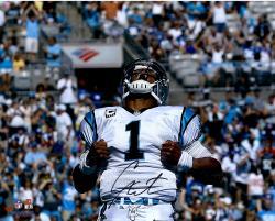 """Cam Newton Carolina Panthers Autographed 16"""" x 20"""" Superman Photograph"""