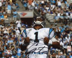 Cam Newton Carolina Panthers Autographed 8'' x 10'' Superman Photograph - Mounted Memories