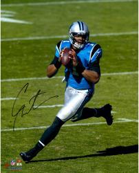 "Cam Newton Carolina Panthers Autographed 16"" x 20"" Scramble Photograph"