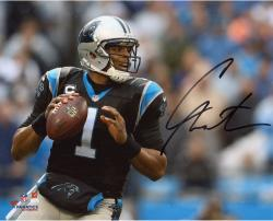 Cam Newton Carolina Panthers Autographed 8'' x 10'' Passing Photograph - Mounted Memories