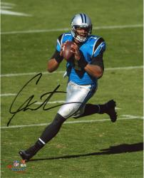 Cam Newton Carolina Panthers Autographed 8'' x 10'' Vertical Scramble Photograph - Mounted Memories