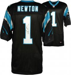 Cam Newton Carolina Panthers Autographed Nike Elite Black Jersey - Mounted Memories