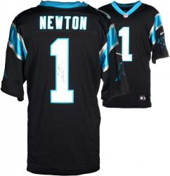 Cam Newton Carolina Panthers Autographed Nike Limited Black Jersey - Mounted Memories