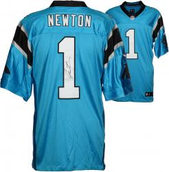 Cam Newton Carolina Panthers Autographed Nike Limited Blue Jersey - Mounted Memories
