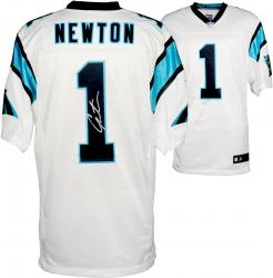 Cam Newton Carolina Panthers Autographed Nike Elite White Jersey - Mounted Memories