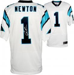 Cam Newton Carolina Panthers Autographed Nike Elite White Jersey