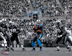 """Cam Newton Carolina Panthers Autographed 11"""" x 14"""" Spotlight Passing Photograph"""