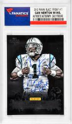 Cam Newton Carolina Panthers Autographed 2012 Panini Black Friday #7 Card with Super Cam Inscription
