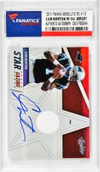 NEWTON, CAM AUTO W/ GU JERSEY (2011 PANINI ABSOLUTE RC # 12) - Mounted Memories