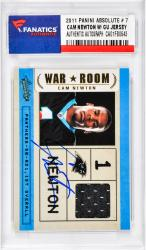 Cam Newton Carolina Panthers Autographed 2011 Panini Absolute #7 Rookie Card with Piece of Game-Used Jersey