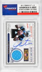 Cam Newton Carolina Panthers Autographed 2011 Panini N.T. #3 Rookie Card with Piece of Game-Used Jersey