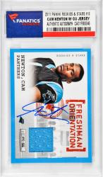 NEWTON, CAM AUTO W/ GU JERSEY (2011 PANINI R&S RC # 8) CARD - Mounted Memories