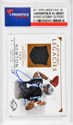 Cam Newton Carolina Panthers Autographed 2011 Topps Lineage #ALR-CN Rookie Card with Piece of Game-Used Jersey