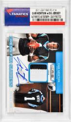 NEWTON, CAM AUTO W/ GU PATCH (2011 LEAF R&S RC # 14) CARD - Mounted Memories