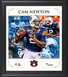"Cam Newton Auburn Tigers Framed 15"" x 17"" Core Composite Photograph"