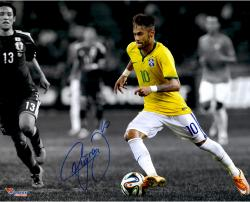 "Neymar Brazil National Team Autographed 16"" x 20"" Spotlight Photograph"