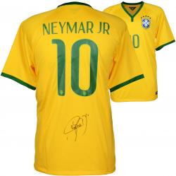 Neymar Brazil National Team Autographed Yellow Jersey