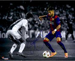 "Neymar FC Barcelona Autographed 16"" x 20"" Spotlight Photograph"