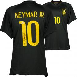 Neymar Autographed Brazil Black Jersey