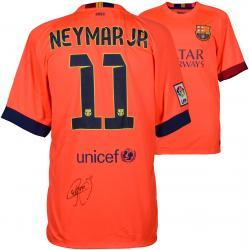 Neymar FC Barcelona Autographed Orange Jersey
