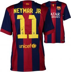 Neymar FC Barcelona Autographed Red & Blue Jersey