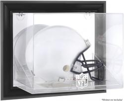 NFL Black Framed Wall-Mountable Helmet Logo Display Case