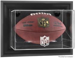 NFL Black Framed Wall-Mountable Football Logo Display Case - Mounted Memories