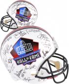 NFL 34 Hall of Fame Autographed Riddell Replica Helmet