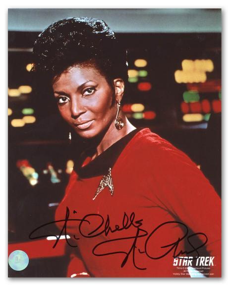Nichelle Nichols Autographed Lieutenant Uhura Star Trek TNG 8x10 Photo