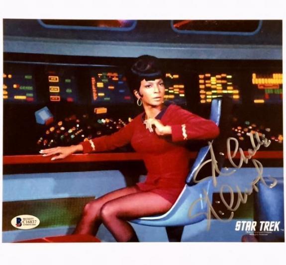 NICHELLE NICHOLS Uhura Autograph STAR TREK Signed 8x10 Photo #5 BAS Beckett COA