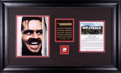 NICHOLSON, JACK (THE SHINING) FRAMED PHOTO w/HOLLYWOOD SIGN