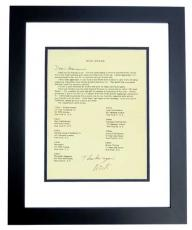 Nick Adams Signed - Autographed Fan Club Letter BLACK CUSTOM FRAME - Deceased 1968 - The REBEL - Friends with Elvis Presley and James Dean