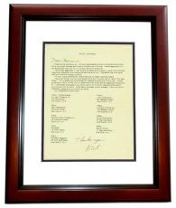 Nick Adams Signed - Autographed Fan Club Letter MAHOGANY CUSTOM FRAME - Deceased 1968 - The REBEL - Friends with Elvis Presley and James Dean
