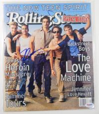 Nick Carter Signed Rolling Stones Magazine Backstreet Boys PSA/DNA Auto