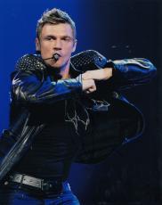 Nick Carter signed The Backstreet Boys Pop Music star 8x10 photo w/coa #10