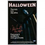 "Nick Castle Halloween Autographed 12"" x 18"" Michael Myers Photograph - BAS"